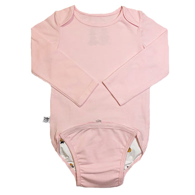 EZ-On BaBeez™ Baby Bodysuit - Pink Blush - Long Sleeve