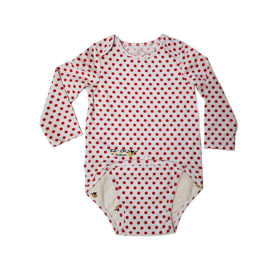 EZ-On BaBeez™ Red Dot Long Sleeve Bodysuit