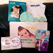 Load image into Gallery viewer, My Tot Box™ - baby products for first years of growth, 4-box Quarterly subscription for age ranges 0-24 months