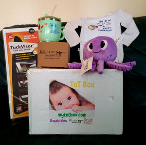 My Tot Box™ - baby products for first years of growth, 4-box Quarterly subscription for age ranges 0-24 months