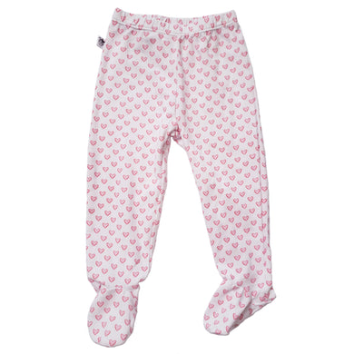 EZ-On BaBeez™ - Hearts Pull-On Pants With or Without Footies