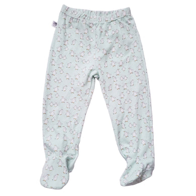 EZ-On BaBeez™ - Penguins on White - Pull-On Pants With or Without Footies