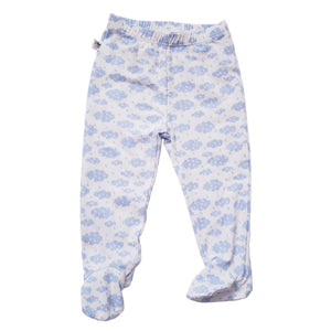 EZ-On BaBeez™ - Spring & Summer - Pull-On Pants, With or WIthout Footies - Rainy Day on White