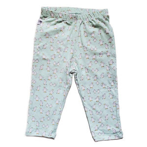EZ-On BaBeez™ - Spring & Summer - Pull-On Pants, With or Without Footies - Penguins on White