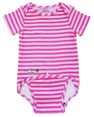 EZ-On BaBeez™ - Spring & Summer - Pink Stripes - Baby Bodysuit