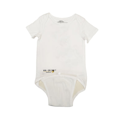 EZ-On BaBeez™ - Spring & Summer - White - Baby Bodysuit, Short Sleeve