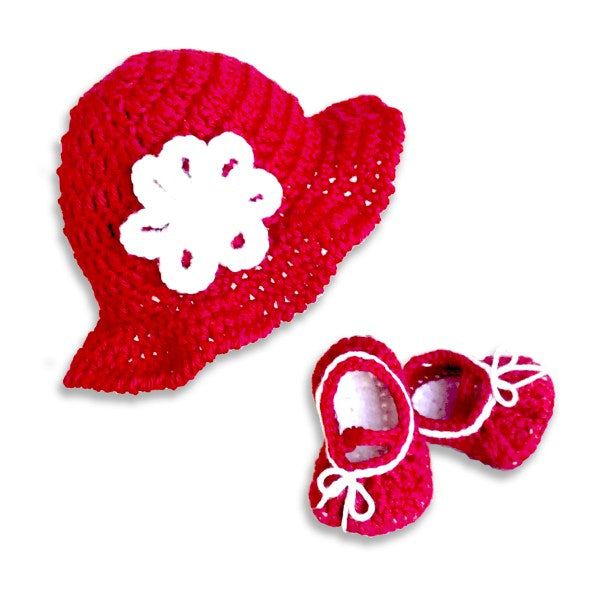 EZ-On BaBeez™ - Accessories - Hat and Booties set - Red