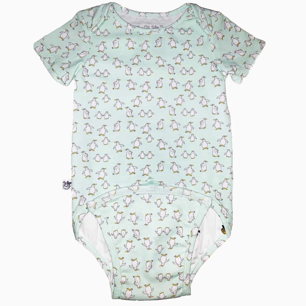 EZ-On BaBeez™ Baby Bodysuit - Penguin Short Sleeve Bodysuit