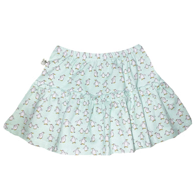 EZ-On BaBeez™ - Penguins on White - Ruffled Skirt