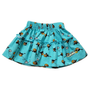 EZ-On BaBeez™ - Honeybee on Aqua - Ruffled Skirt
