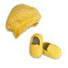 Yellow Hat & Bootie Set