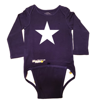 EZ-On BaBeez™ Baby Bodysuit - Americana Collection - Star - Long Sleeve