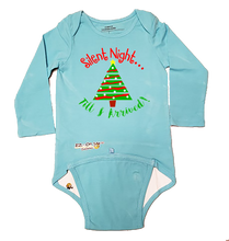 "Load image into Gallery viewer, EZ-On BaBeez Baby Bodysuit, Long Sleeve- Christmas ""Silent Night"""