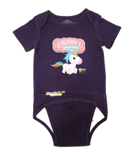 Load image into Gallery viewer, EZ-On BaBeez™ - WarePlay - Unicorns Journey Unicorn Logo - Baby Bodysuit, Short Sleeve