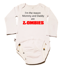 Load image into Gallery viewer, EZ-On BaBeez™ Halloween Collection - Mommy and Daddy are Zombies - Baby Bodysuit - Long Sleeve