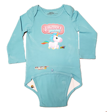 Load image into Gallery viewer, EZ-On BaBeez™ - WarePlay - Unicorns Journey Unicorn Logo - Baby Bodysuit, Long Sleeve