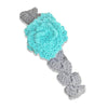 Aqua Flower w/Grey Head Band