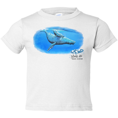 EZ-On BaBeez™ - Mom and Baby Collection - Marine Life Series, Humpback Whales - Toddler T-Shirt