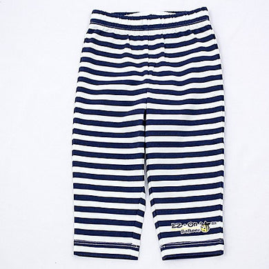EZ-On BaBeez™ - Lapis Blue Stripes on White - Pull-On Pants