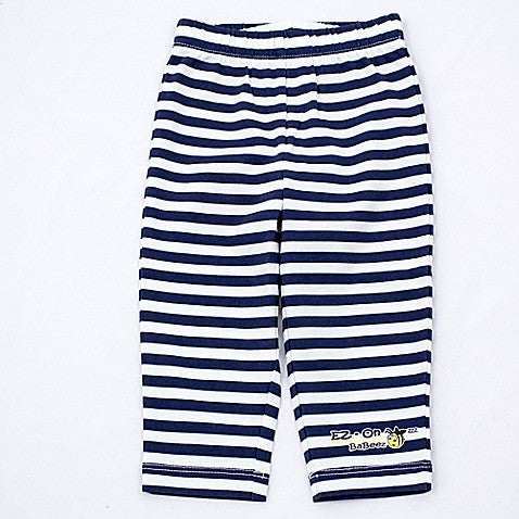EZ-On BaBeez™ Striped Pull-On Pant in Blue/White