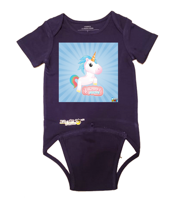 EZ-On BaBeez™ - WarePlay - Unicorn's Journey - Baby Bodysuit - Short Sleeve