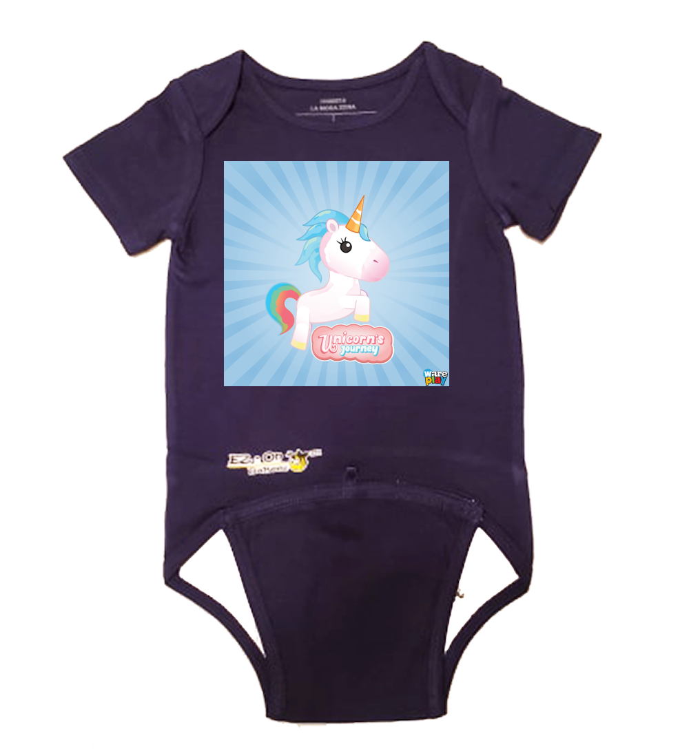 EZ-On BaBeez™ - WarePlay, Unicorn's Journey - Baby Bodysuit - Short Sleeve