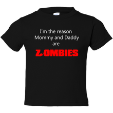 Load image into Gallery viewer, EZ-On BaBeez™ Halloween Collection - Mommy and Daddy are Zombies - T-Shirt - Toddler Tee