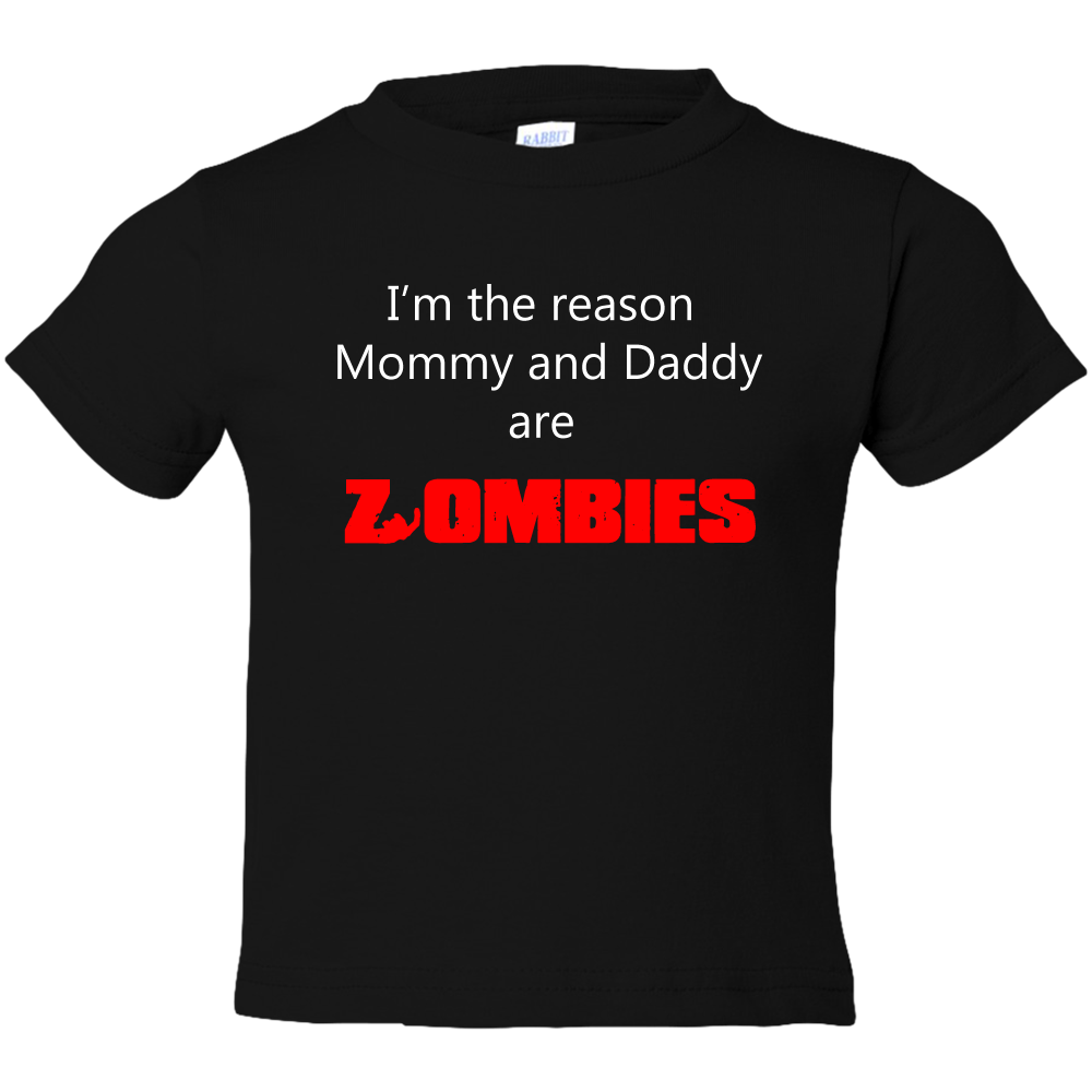EZ-On BaBeez™ T-Shirt - Halloween Collection - Mommy and Daddy are Zombies - Toddler Tee