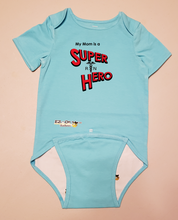Load image into Gallery viewer, EZ-On BaBeez™ Baby Bodysuit - My Mom is a Super Hero - Nurse, Short Sleeve
