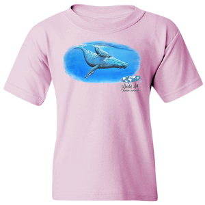 Youth Tee, Mom and Baby Collection - Marine Life Series, Humpback Whales