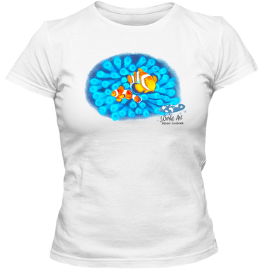 EZ-On BaBeez™ - Mom and Baby Collection - Marine Life Series, Clownfish - Adult Ladies Classic T-Shirt