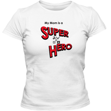 Load image into Gallery viewer, EZ-On BaBeez™ T-Shirt - My Mom is a Super Hero - Military, Adult Unisex Standard Tee