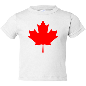 Toddler Tees- Maple Leaf (Canada Day)