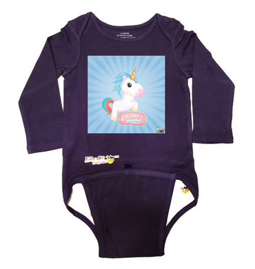 EZ-On BaBeez™ - WarePlay - Unicorn's Journey - Baby Bodysuit - Long Sleeve
