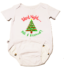"Load image into Gallery viewer, EZ-On BaBeez Baby Bodysuit, Short Sleeve- Christmas ""Silent Night"""
