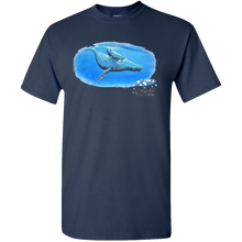 Load image into Gallery viewer, EZ-On BaBeez™ - Mom and Baby Collection - Marine Life Series, Humpback Whales - Adult Unisex Standard T-Shirt