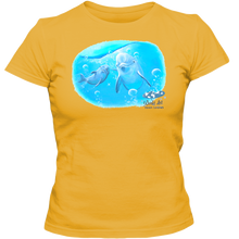 Load image into Gallery viewer, Adult Ladies Classic Tees, Mom and Baby Collection - Marine Life Series, Dolphins