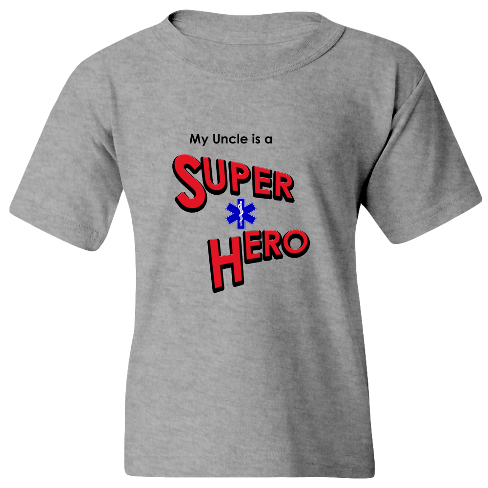 EZ-On BaBeez™ T-Shirt - My Uncle is a Super Hero - EMT, Youth Tee