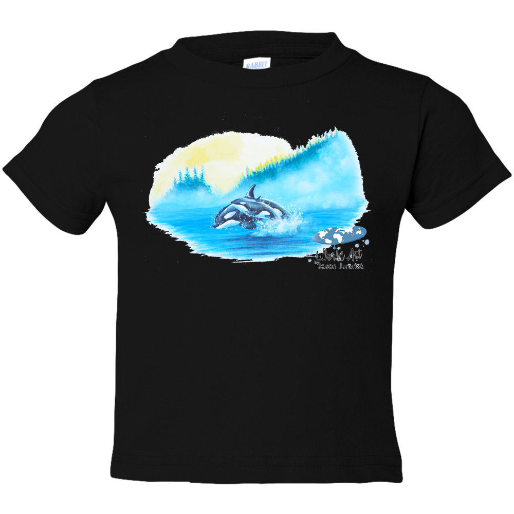 EZ-On BaBeez™ - Mom and Baby Collection - Marine Life Series, Orcas - Toddler T-Shirt
