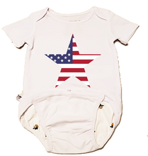 Load image into Gallery viewer, EZ-On BaBeez™ - Americana Collection - Stars and Stripes - Baby Bodysuit, Short Sleeve