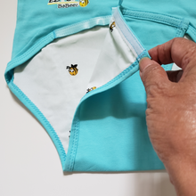 Load image into Gallery viewer, EZ-On BaBeez™ - Spring & Summer - Honeybee - on Aqua - Baby Bodysuit