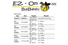 Load image into Gallery viewer, EZ-On BaBeez™ - Spring & Summer - Pink Stripes - Baby Bodysuit