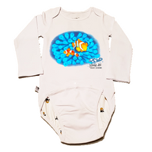 Load image into Gallery viewer, EZ-On BaBeez™ - Mom and Baby Collection - Marine Life Series, Clownfish - Baby Bodysuit, Long Sleeve