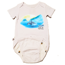Load image into Gallery viewer, EZ-On BaBeez™ - Mom and Baby Collection - Marine Life Series, Orca - Baby Bodysuit, Short Sleeve