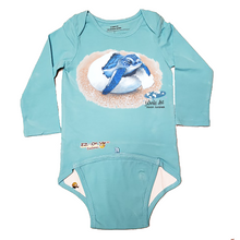 Load image into Gallery viewer, EZ-On BaBeez™ - Mom and Baby Collection - Marine Life Series, Baby Sea Turtle - Baby Bodysuit, Long Sleeve