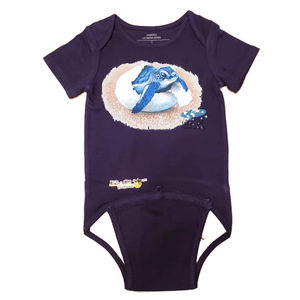EZ-On BaBeez™ - Mom and Baby Collection - Marine Life Series, Baby Sea Turtle - Baby Bodysuit, Short Sleeve