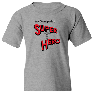 """My Grandpa is a Super Hero"" - Doctor, Youth Tee"