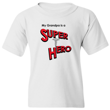 "Load image into Gallery viewer, ""My Grandpa is a Super Hero"" - Doctor, Youth Tee"