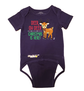 "EZ-On BaBeez™ - Holiday - Christmas - ""Deer Oh Deer"" - Baby Bodysuit, Short Sleeve"
