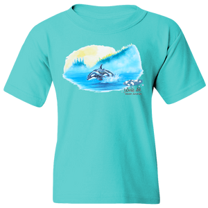 EZ-On BaBeez™ - Mom and Baby Collection - Marine Life Series, Orcas - Youth T-Shirt